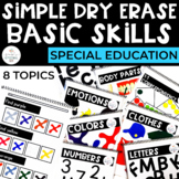 Simple Dry Erase: Basic Skills for Special Education