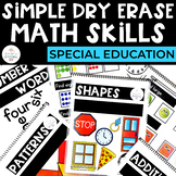 Simple Dry Erase: Math for Special Education
