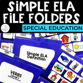 Simple ELA File Folders for Special Education