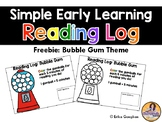 Simple Early Learning Reading Logs | FREEBIE
