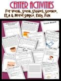 Center Activities Simple, Easy, Fun for Vocab Social Studi