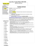 Simple, Editable Lesson Plan Template