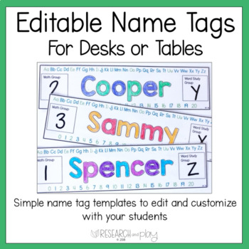 Simple Editable Name Tags for Desks or Tables