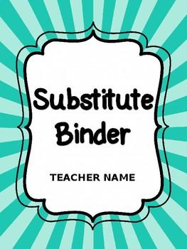 Simple & Editable Substitute Binder