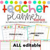 2018-2019 Lesson Planner Simple Editable Teacher