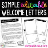 Simple Editable Welcome Letters