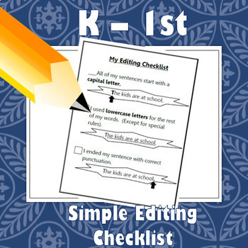 Simple Editing Checklist!
