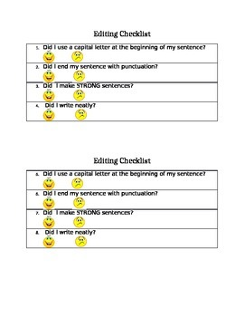Simple Editing Checklist