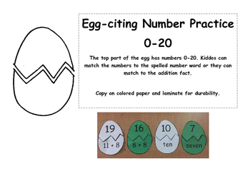 Simple Egg-citing Number Matching Practice