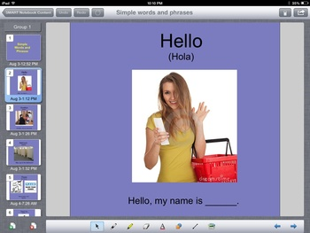 Simple English Words and Phrases SmartBoard Presentation