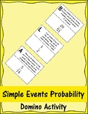 Simple Events Probability Domino Activity