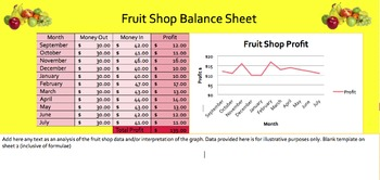 Simple Excel Spreadsheets - Fruit Shop Data
