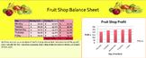 Simple Excel Spreadsheets - Fruit Shop Data