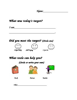 Simple Exit Slip for Student Voice