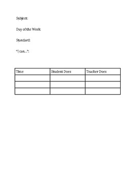 Simple Extra Activity Lesson Plan