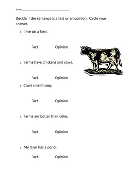 Simple Fact and Opinion Sentences
