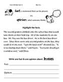 Simple Fact vs. Opinion Worksheets