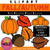 Simple Fall Clip Art | With Movable Piece License