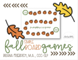 Simple Fall Themed Board Games