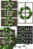 Simple Farmhouse Style Wreaths, Signs and Letters A-Z Clipart