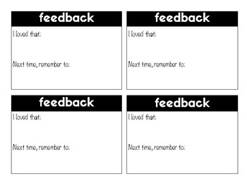 Simple Feedback Form (4 Sections)