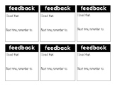 Simple Feedback Form (6 Sections)