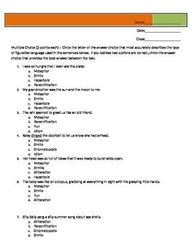 Simple Figurative Language Quiz