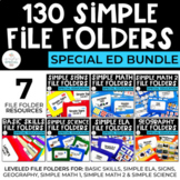 Simple File Folder Bundle for Special Education