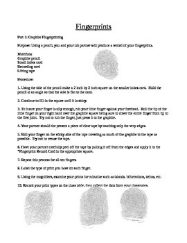 Simple Fingerprinting Activity