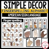 Simple Classroom Decor Fingerspelling American Sign Langua