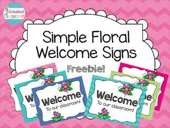 Simple Floral Welcome Signs