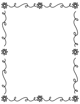 Simple Flower Page Border!