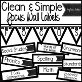 Simple Focus Wall Labels & Schedule Labels