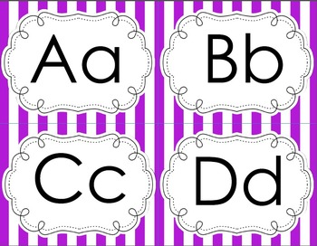 Simple Font Purple Striped Word Wall