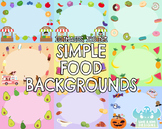 Simple Food Backgrounds (Lime and Kiwi Designs)