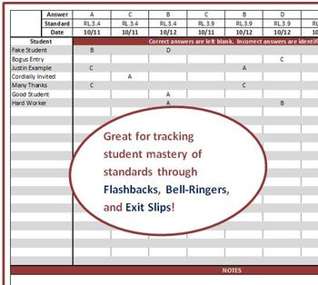 Simple Formative Assessment Tracker