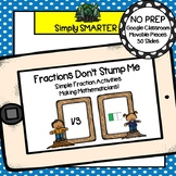 Simple Fraction Activities For GOOGLE CLASSROOM
