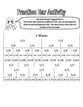 Simple Fraction Bar Activity