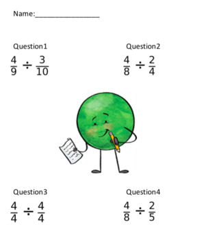 Simple Fraction Division (20 Questions)