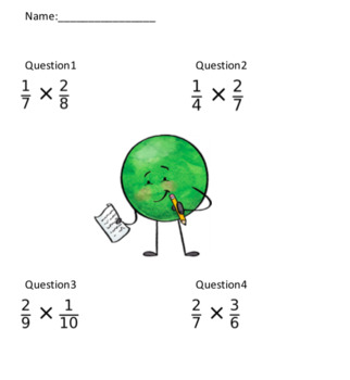 Simple Fraction Multiplication (20 Questions)
