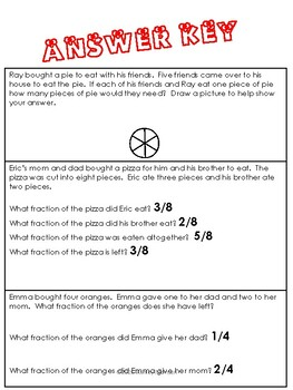 Simple Fraction Story Problems
