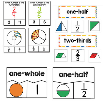 Simple Fractions | 1st Grade Math Centers