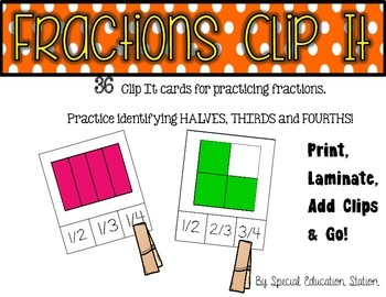 Simple Fractions Clip It