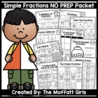 Simple Fractions NO PREP Packet
