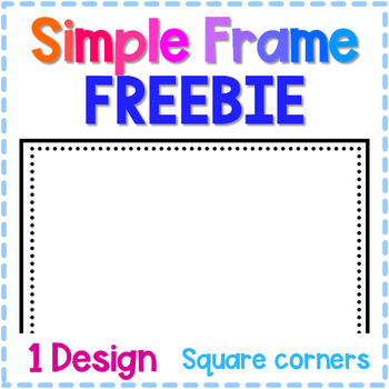Simple and Bold Frame - Dotted border Freebie
