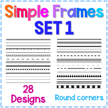 Simple Frames Set #1 - 28 Borders for Personal & Commercial Use