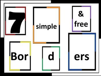 Simple Free Borders