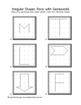 Simple Funny (Irregular) Shapes Race with Geoboards!