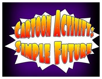 Spanish Simple Future Cartoon Activities