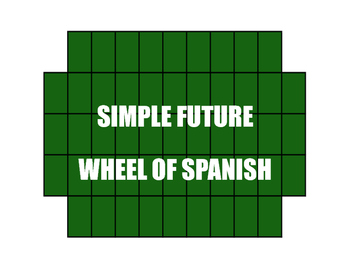Spanish Simple Future Wheel of Spanish